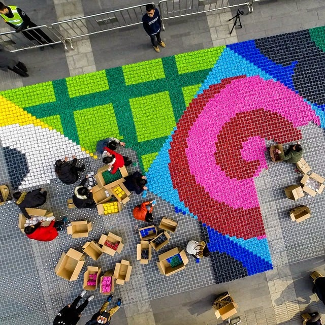 Giant Candy Carpet Mosaic in China
