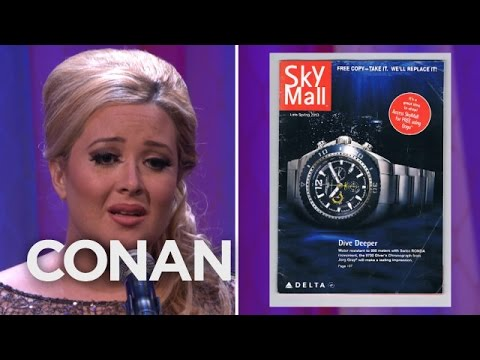 Definitely the Real Singer Adele Sings 'SkyMall', A Parody of Her