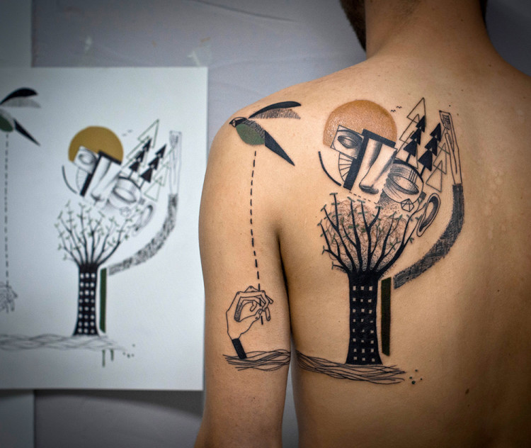 Dreamlike Illustration Art Tattoos by Expanded Eye