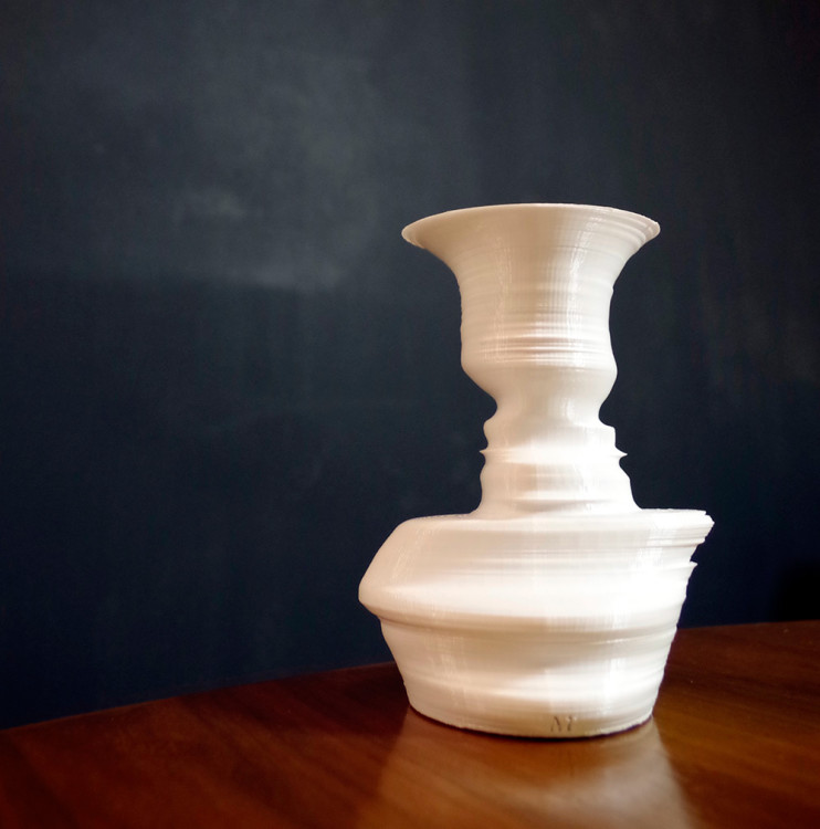 fahz Face Profile Vase