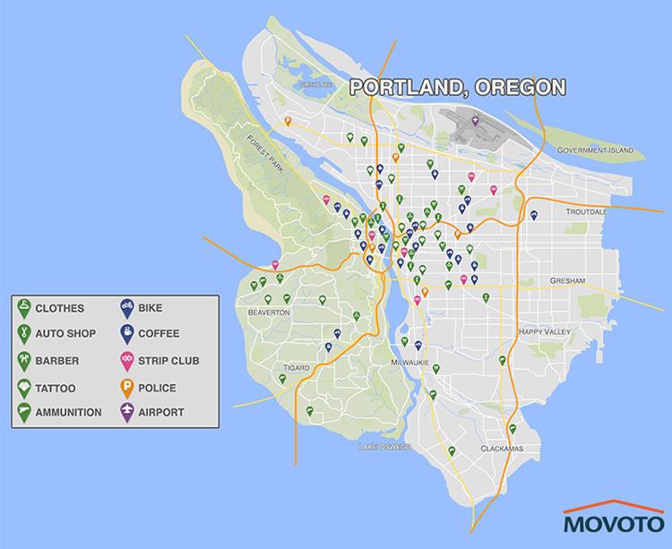 Portland GTA Map