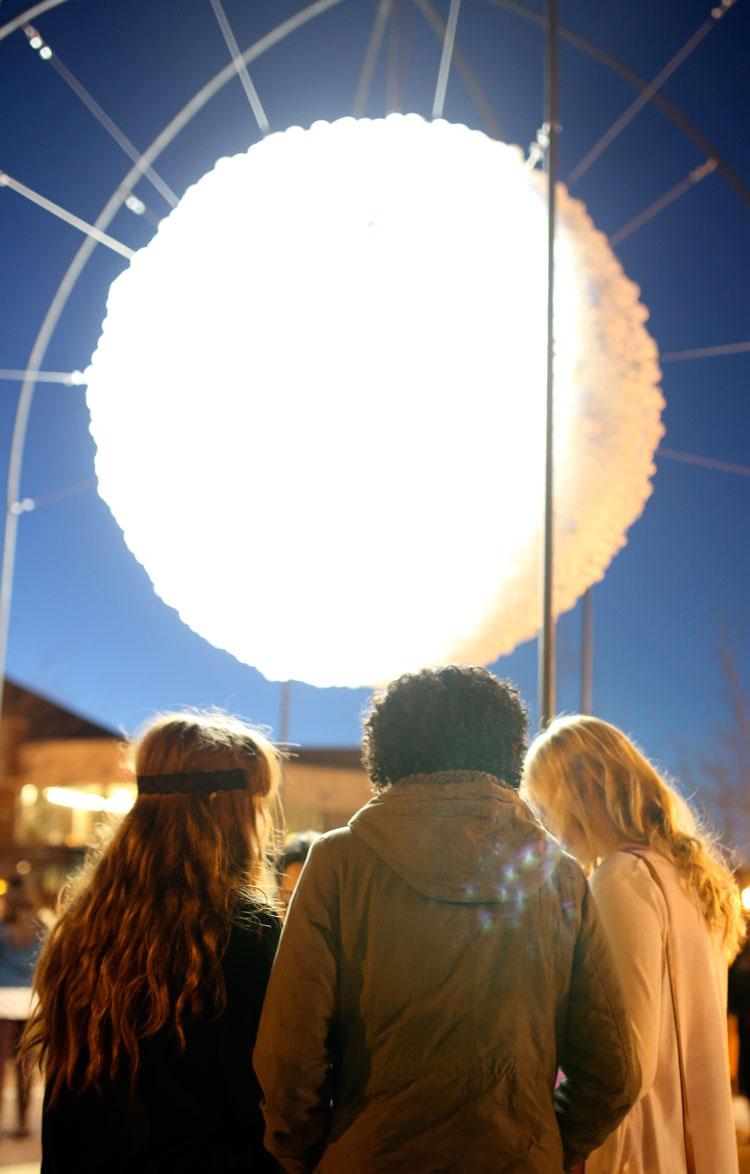 New Moon Illuminated Sculpture