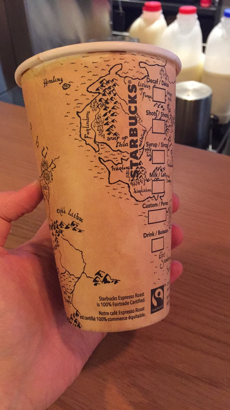 Middle-earth Starbucks Cup