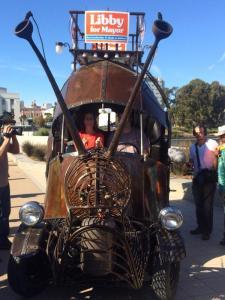 Libby Schaaf snail car