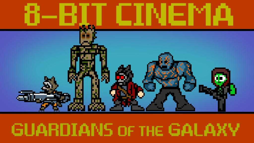 Marvel's Superhero Film 'Guardians of the Galaxy' Retold as an 8-Bit Animated Video Game