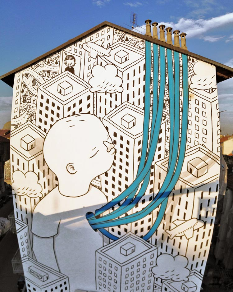 Playful Street Art by Millo
