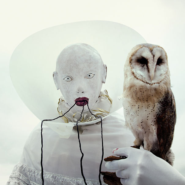 Wounderland Surreal Portraits With Taxidermy by Mothmeister