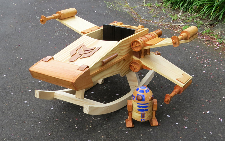 Man Builds A Wooden Star Wars Ride On Rocker Toy That