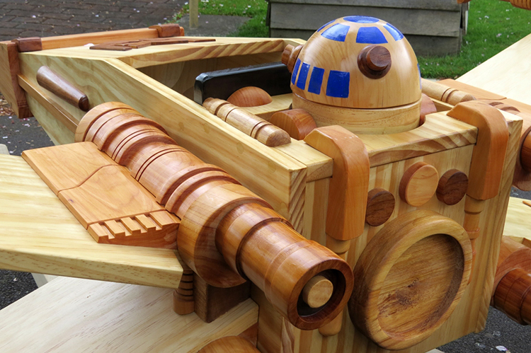 Man Builds a Wooden 'Star Wars' Ride-On Rocker Toy That Looks Like an X-Wing Starfighter, Comes ...