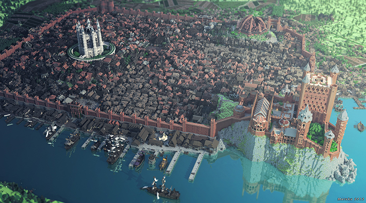 A video tour of westeroscraft the minecraft world where game of kings landing the capital of westeros gumiabroncs Image collections