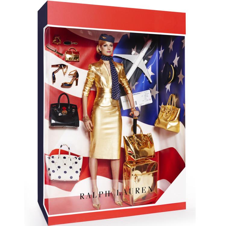 Models Pose as Luxury Fashion Brand Dolls