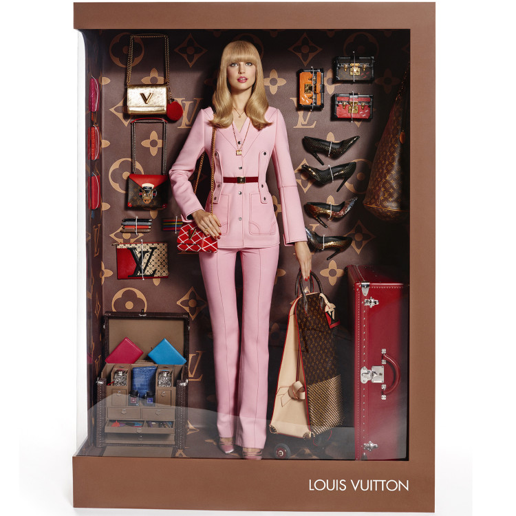 Models Pose as Luxury Fashion Brand Dolls
