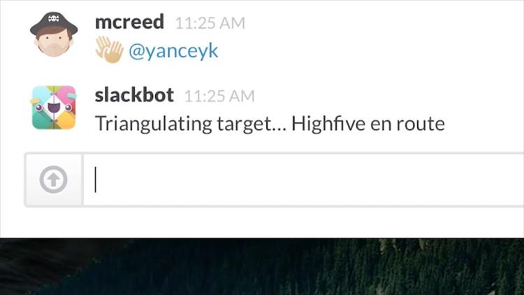 Slackbot Bot High Five
