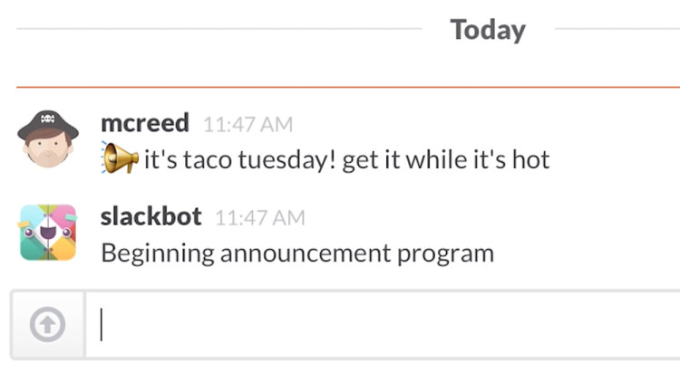 Slackbot Bot Lunch