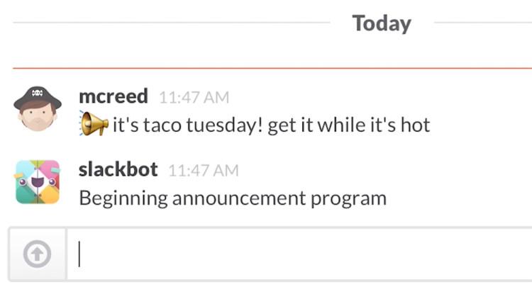 Slackbot Bot Lunch