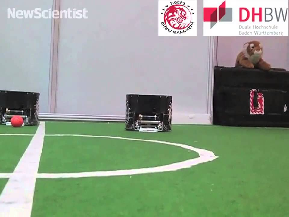 Small Robots Pass a Ball Around in Hopes of Qualifying for the RoboCup Robotic Soccer Championships