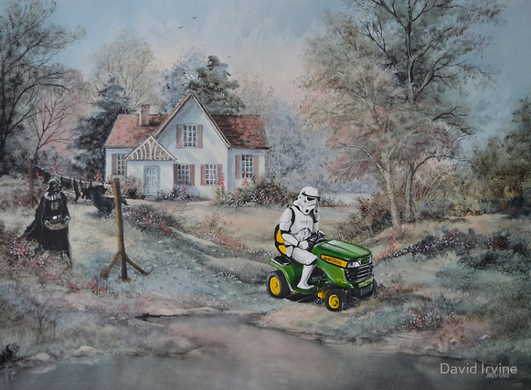 Pop Culture Character Thrift Store Paintings