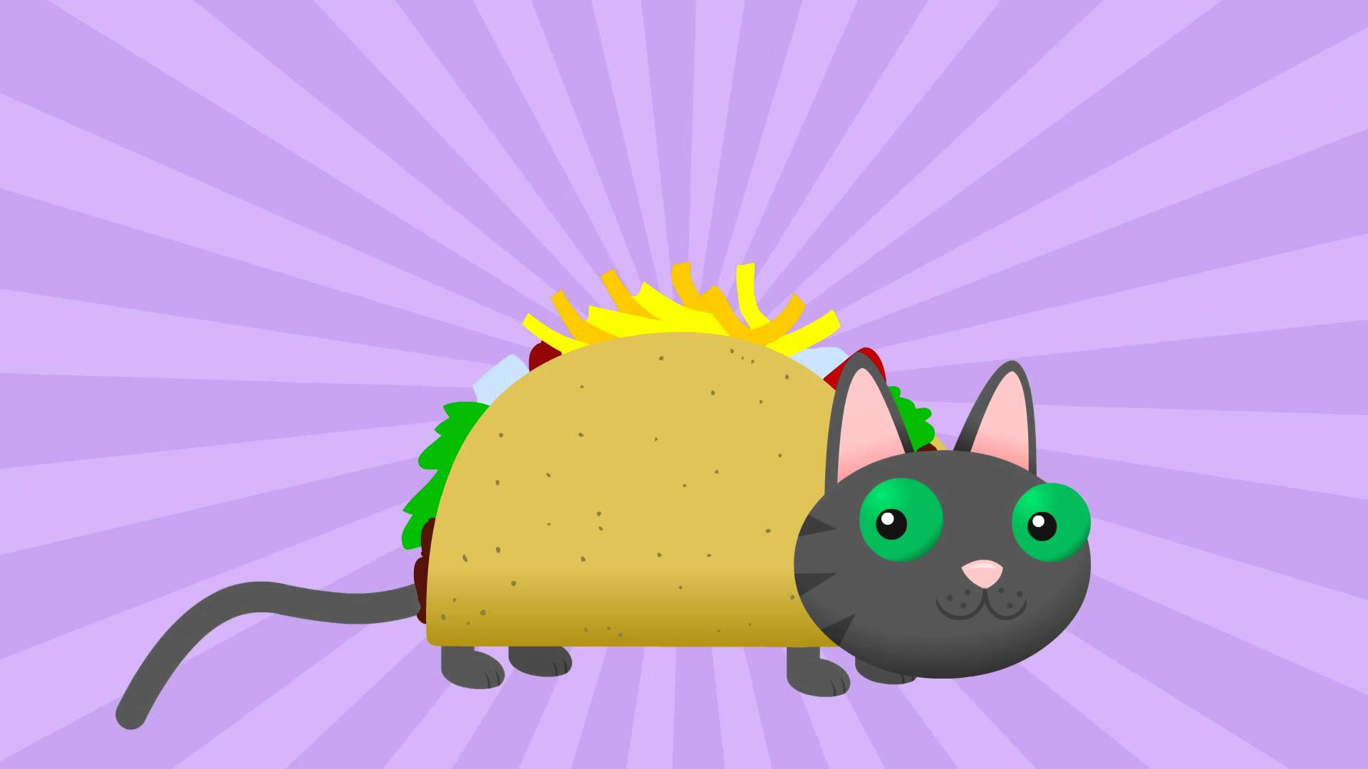 'TACOCAT', An Animated Music Video About a Cat Made Out of a Taco Whose Name Spelled Forward & Backward is Taco Cat