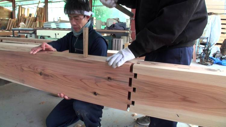 Traditional Japanese Carpenters Exhibit Master Craftsmanship When Contructing Durable Buildings Without Nails