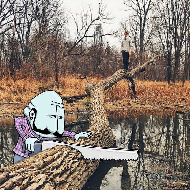 Photo Invasion Instagram Drawing Project by Lucas Levitan