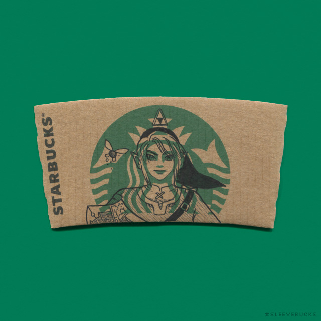 Sleevebucks Starbucks Mermaid Transformed Into Pop Culture Characters
