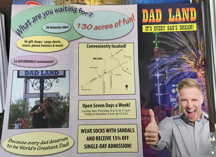 Dad Land Fake Brochure by Jeff Wysaski