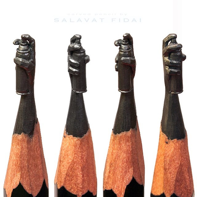 Pencil Graphite Sculptures by Salavat Fidai