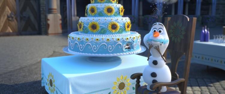 Olaf and cake