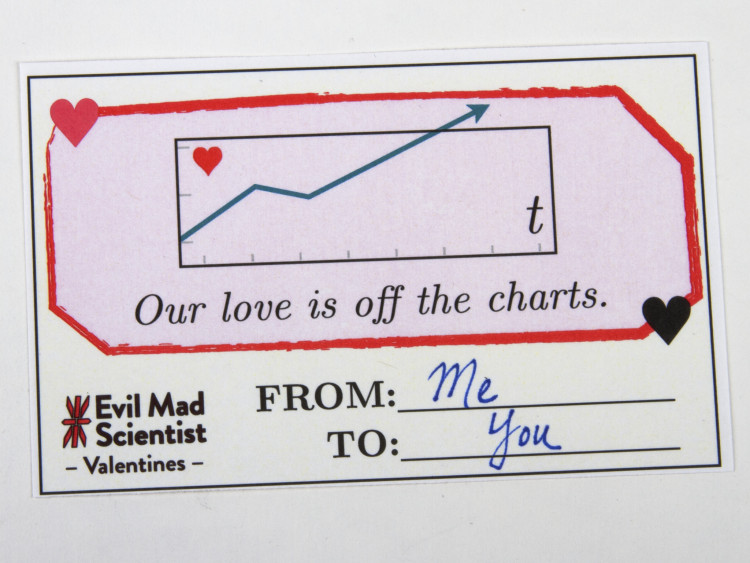 Math and Science Equation Valentines by Evil Mad Scientist