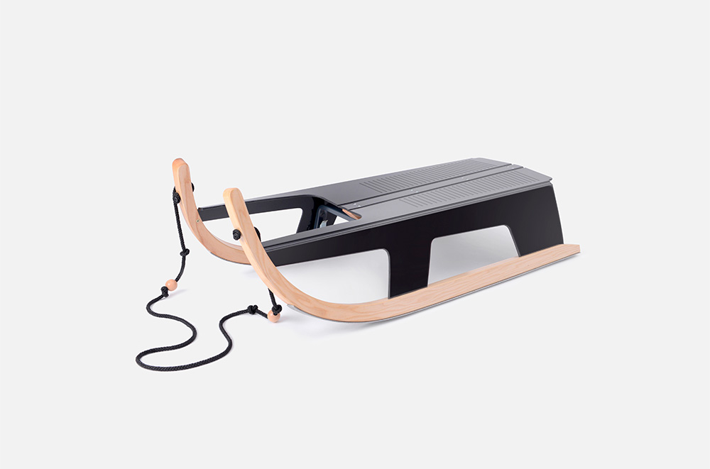 Folding Sled, A Cleverly Designed Sled That Folds Flat When Not in Use
