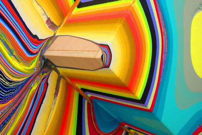 Pour Paintings by Holton Rower