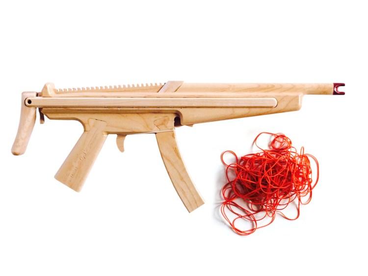 Beautiful Wooden Semi-Automatic Rubber Band Guns Crafted ...