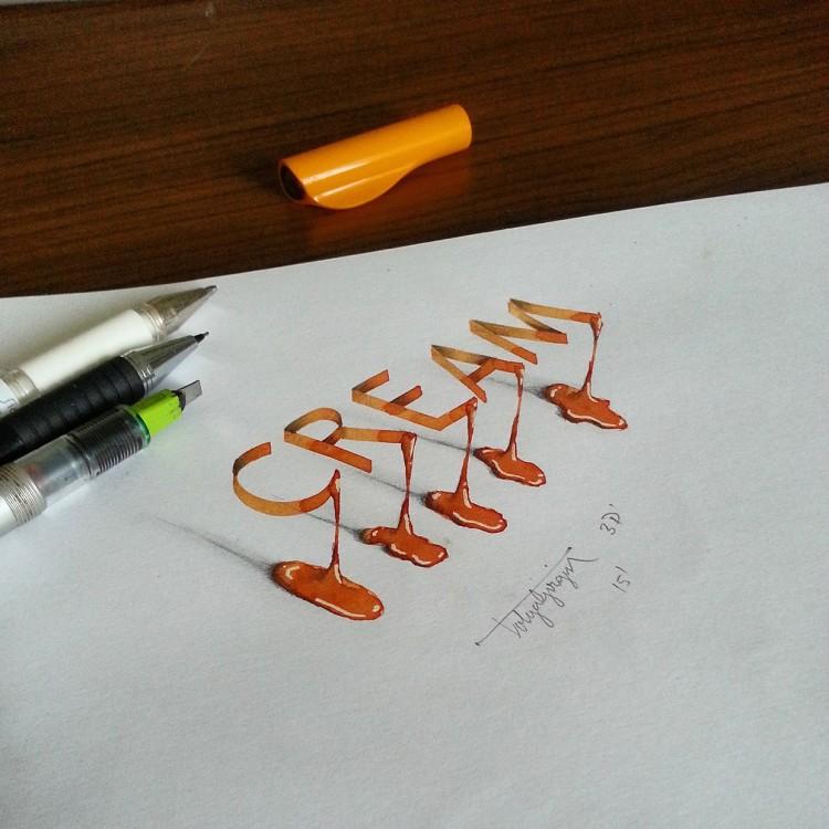 Anamorphic Calligraphy by Tolga Girgin