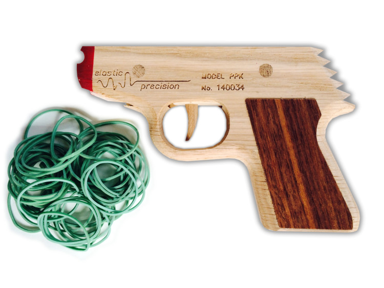 Beautiful wooden semi automatic rubber band guns crafted by hand elastic precision malvernweather Image collections