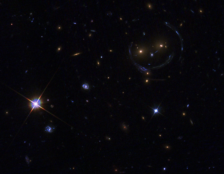 Smiley Face Galaxy Cluster