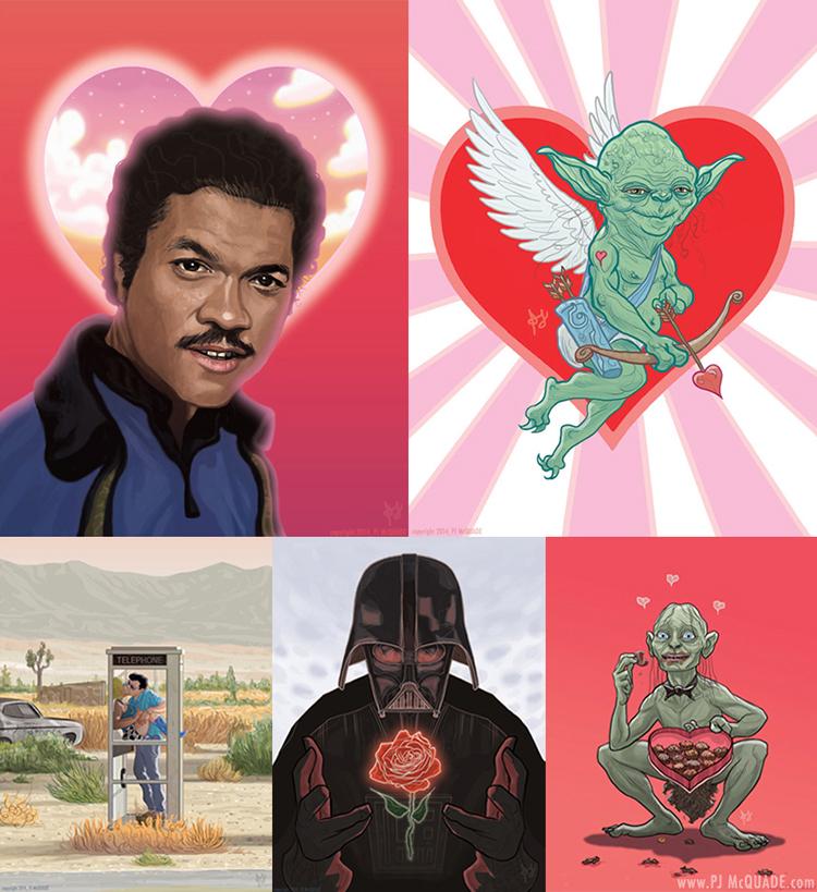 Valentine's Day cards by PJ McQuade