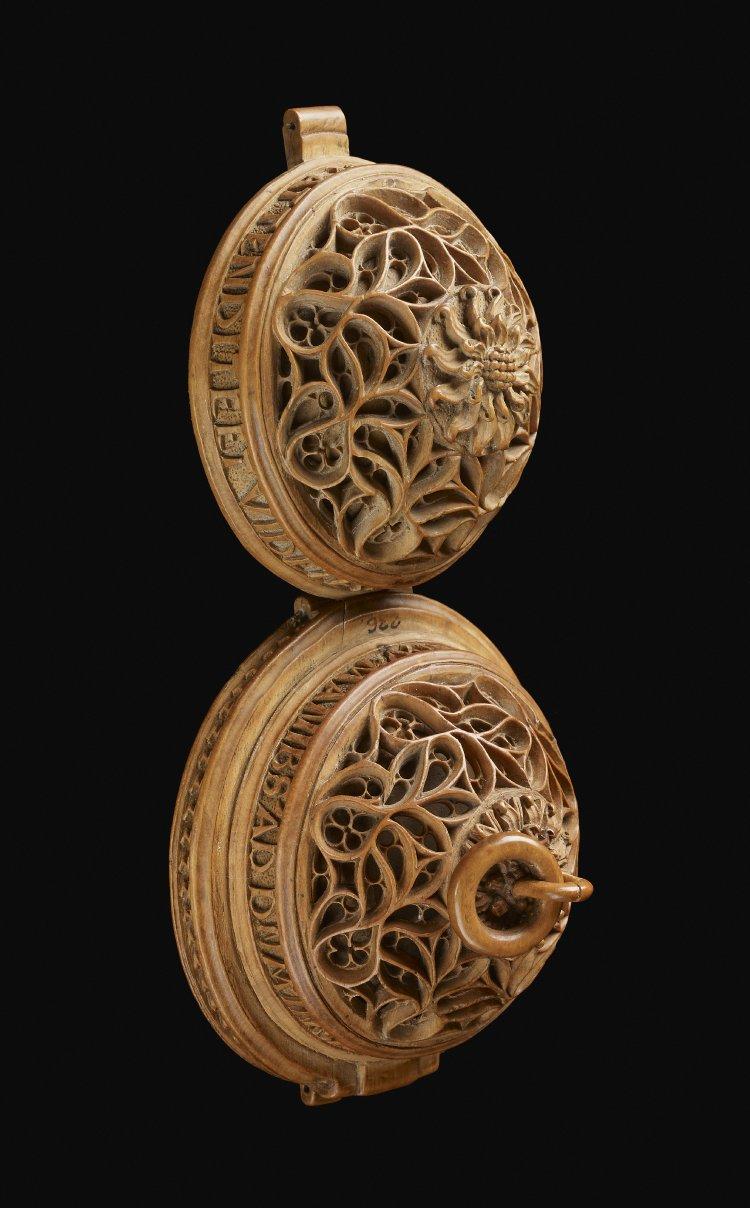 Prayer Nut Rosary Bead Religious Carving
