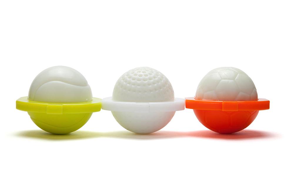 'Sports Huevos', Fun Plastic Molds That Shape Hard-Boiled Eggs Into Edible Golf, Tennis, or Miniature Soccer Balls