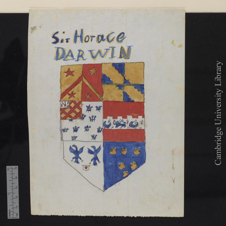 Darwin manuscript coat of arms