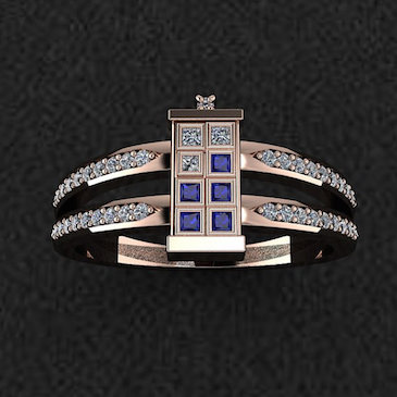 A Custom Line of Doctor Who TARDIS Jewelry Made With Precious Metals