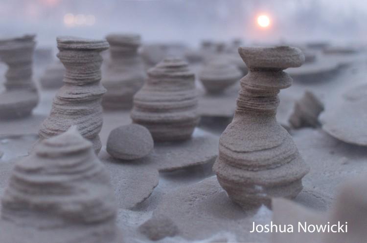 Frozen Sand Formations - Joshua Nowicki