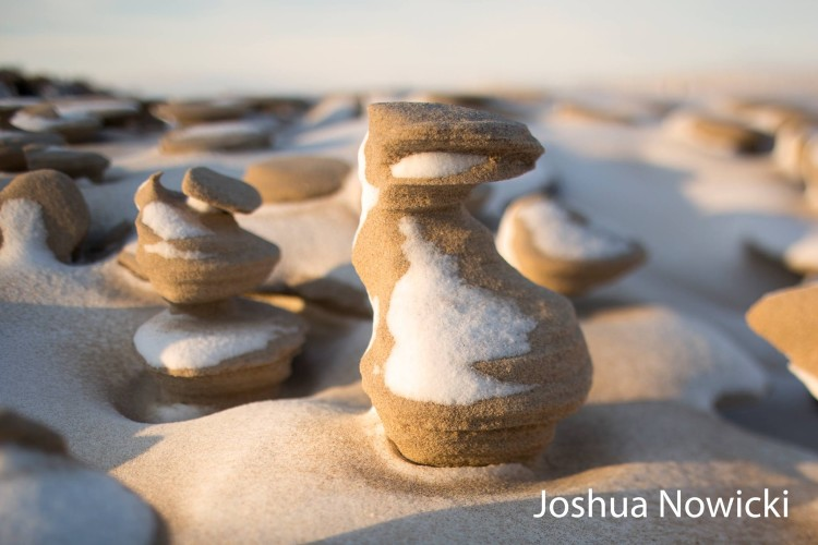 Frozen Sand Formations - Joshua Nowicki Closeup