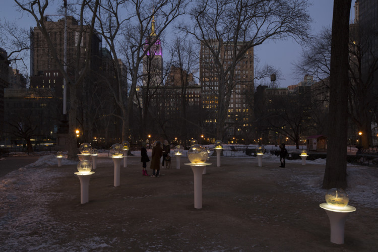 Gazing Globes in Madison Square Park