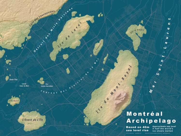 Sea Rise City Maps