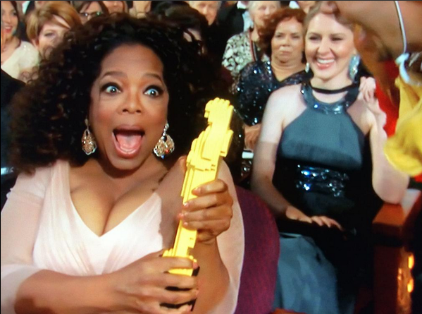 Oprah and LEGO Statue