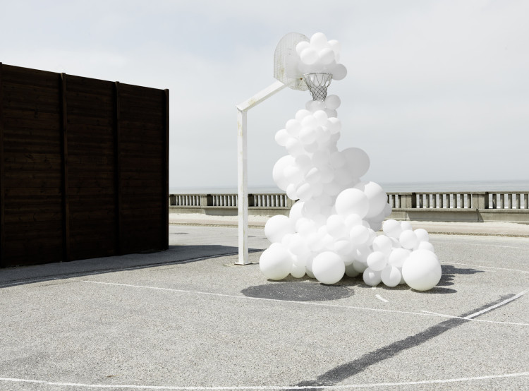 White Balloon Invasions by Charles Petillon