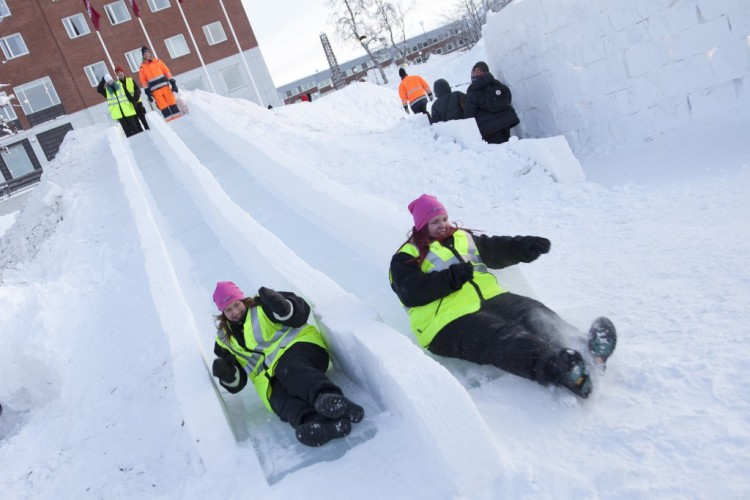 Snow and Ice Playground in Sweden