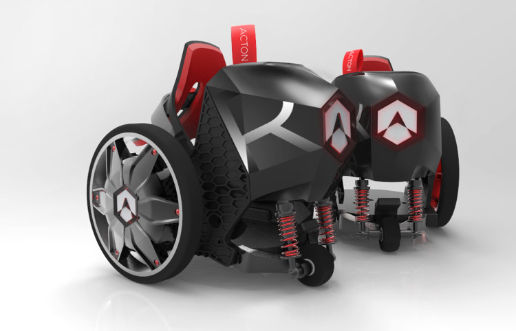 Acton Rocketskates, Electric Roller Skates That Slip Over Shoes and Travel Up to 12 Miles Per Hour