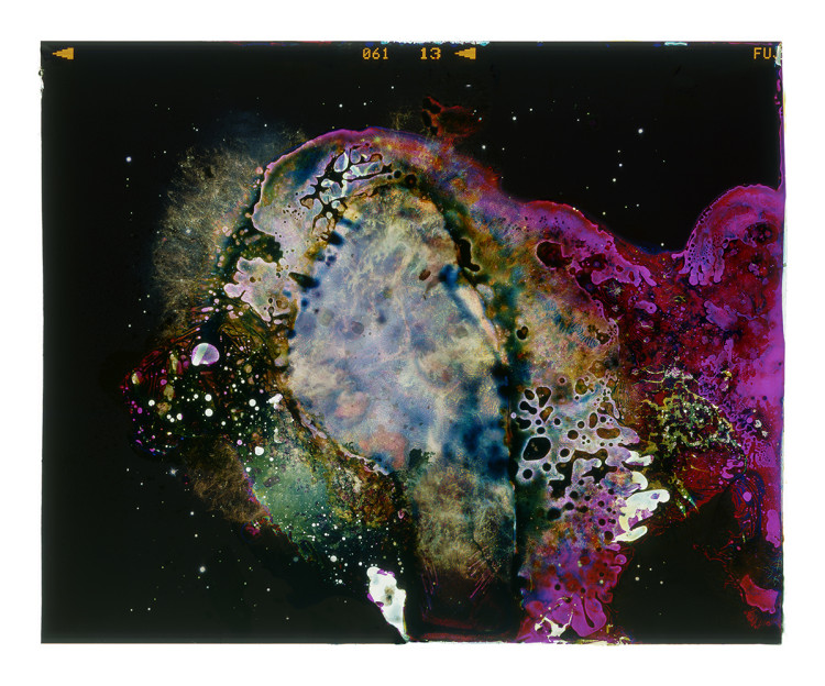 Photos of Space Eaten by Bacteria by Marcus DeSieno