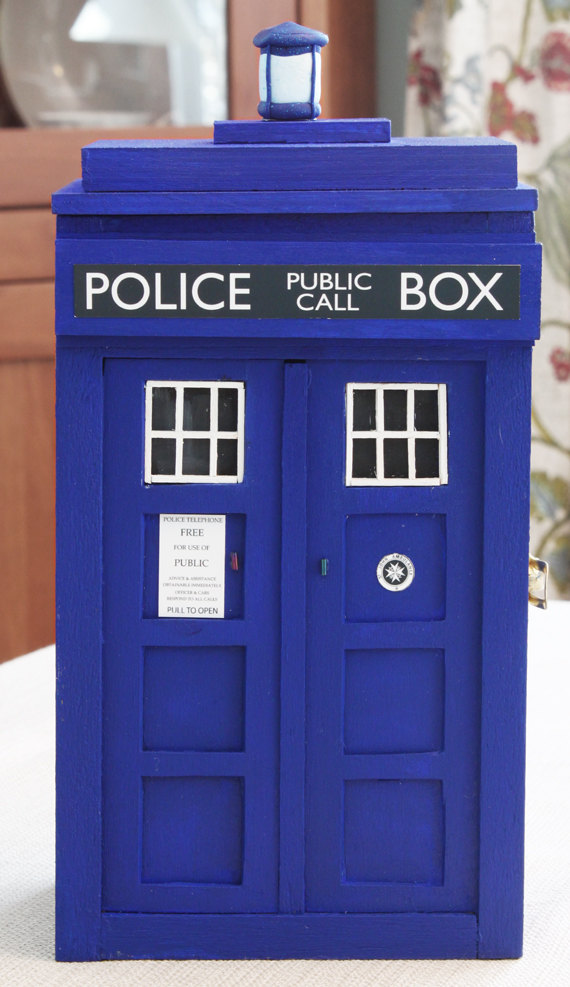 TARDIS Jewelry Box Closed
